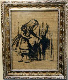Antique Burlap Print  Vintage Alice in Wonderland by SamsaraPrints, $2.00