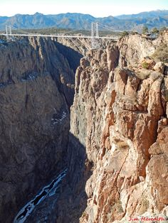 The Royal Gorge Bridge over the Arkansas River in Colorado