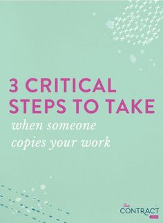3 Critical Steps to Take When Someone Copies Your Work Business Education, Business Advice, Business Entrepreneur, Successful Online Businesses, Entrepreneur Inspiration, You Working, Business Management, Business Branding, Photography Business
