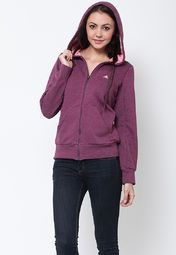 this winter wearing this purple coloured sweatshirt for women from the house of Adidas. Made from cotton spandex, this regular-fit, stretchable sweatshirt will keep you warm and comfortable all day long. It features a zip closure on the front to enhance your look. Team it with black coloured denims to look stylish.