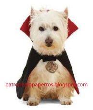 Patrones de capa de drácula para perro | Patrones de ropa para perros