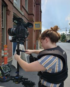 Interns Bridget and Olivia get hands-on training with the Steadicam Zephyr and Canon MK II. Good Cause, Feature Film, Filmmaking, Workplace, Documentaries, Canon, Boston, This Is Us, Training