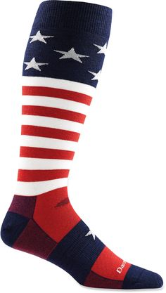 Made in Vermont: Camping is more fun with warm toes. Extra points for style. Love these Darn Tough Captain America Striped men's socks. Cool Socks For Men, Ski Socks, Colorful Socks, Funky Socks, Mens Skis, Darning, American Made, Knitting Socks, Backpack Bags