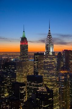 New York City Sparkles at Night
