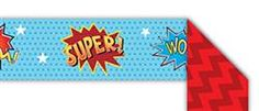Superheroes Double-Sided Border - It's a bird!... It's a plane!... No, it's the Superheroes #Classroom Theme! White walls and blank spaces have met their decorating match and disorganized crime is no more with the life-saving decorations and organizational resources found in this collection. Supply all your classroom needs in heroic fashion. Have no fear, Superheroes Classroom Theme is here! #teachers