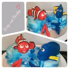 Nemo and Dory mini cakes