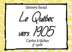 Les idées de Mme Roxane!: Cartes à tâches Cycle, Social Studies, Techno, Study, Education, Coin, School, Canada, History