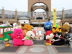 天王寺動物園にゆるキャラ集まる-新世界・通天閣100周年応援で