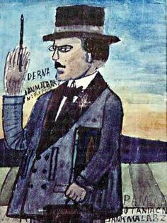 Nikifor Krynicki, Self Portrait