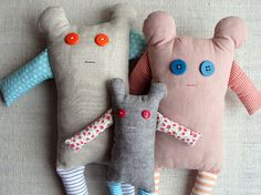 I absolutely love handmade dolls for a nursery...even the cooky ugly ones lol!