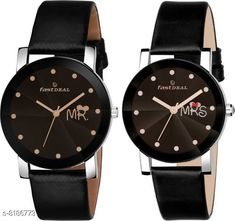 Watches FastDeals Mr & Mrs couple Dial Leather Strep Couple Watch Analog Watch - For Men & Women Strap Material: Leather Display Type: Analogue Size: Free Size Add Ons: Additional Strap Multipack: 2 Country of Origin: India Sizes Available: Free Size   Catalog Rating: ★4.3 (463)  Catalog Name: Trendy Men Watches CatalogID_1362460 C65-SC1232 Code: 062-8186773-9921
