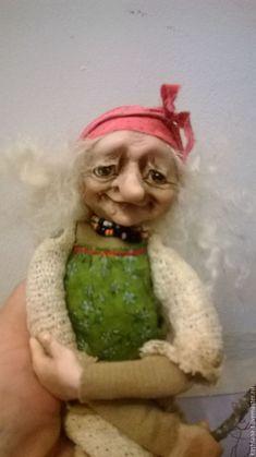 """Купить Куколка """"Ягуля для маленькой девочки из Сочи"""" - комбинированный, баба-яга, коллекция, подарок, сказка"""