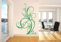 Wall Stickers - Flower Tendril 1 (2 colours)