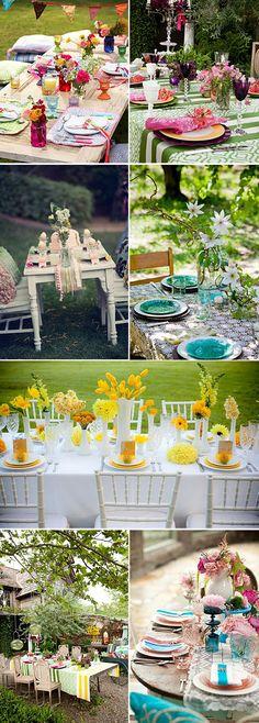 Fiestas en el jardin - ideas originales y sencillas