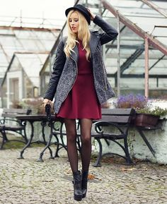 Shop this look on Kaleidoscope (dress, coat) http://kalei.do/XGSpNGkqtKhU0dJY