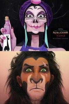 Audrey Logeais, maquilleuse pro, met à l'honneur les méchant•es de Disney et non pas les princesses (pour une fois). Un travail frais et foutrement talentueux!