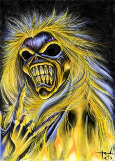 Ugly Music, Eddie, Edward The Great, Iron Maiden Heavy Metal Bands, Heavy Metal Rock, Heavy Metal Music, Iron Maiden Cover, Iron Maiden Band, Eddie Iron Maiden, The Crow, Camisa Rock, Iron Maiden Mascot