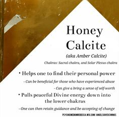Honey Calcite crystal meaning