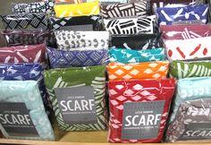 Scarf Packaging by Little Minnow Renagade Craft Fair Austin