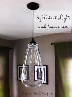 12 Ideas for You to DIY Pendant Lights | Pretty Designs