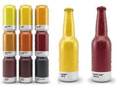 El diseñador gráfico vasco Txaber ha creado un jovial diseño de packaging para cerveza que equipara el color de cada tipo de cerveza con su correspondiente Pantone. Simplemente observando el color de las botellas y latas de cerveza, se puede saber la variedad que contienen en su interior.