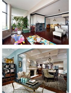 Gorgeous before and after shots of design projects by interior designer and TV host Candice Olson #LoveYourSpace