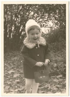 Little Girl in Hat Coat with Little Purse