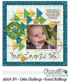 cute and colorful baby boy layout