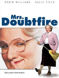 ロビンウィリアムズはすごい。でもこころなしかトッツィーっぽい mrs. doubtfire