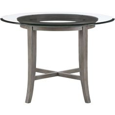 Shop Halo Grey Round Dining Table with Glass Top. A sheer, satiny grey frame finish lets the natural grain show through. Table seats four. The Halo Grey Dining Table with Glass Top is a Crate and Barrel exclusive. Grey Round Dining Table, Dinning Table, A Table, Dining Room, Table Bases, Dining Sets, Small Kitchen Redo, Painted Chairs, Glass Table
