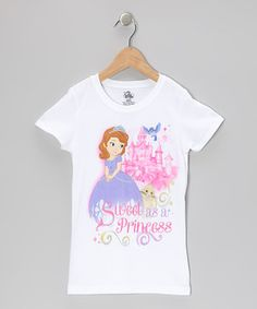 This pixie-perfect piece brings magic to any princess's wardrobe. Adorned with a glittery Disney favorite, this pretty tee is sparkle-sweet for creating marvelous memories in comfy style.