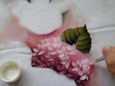 Tutorial, Cómo pintar hortensias en tela . ¡Precioso!