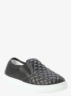 fall/winter look Quilted Slip-On Sneakers (Wide Width), DEEP BLACK