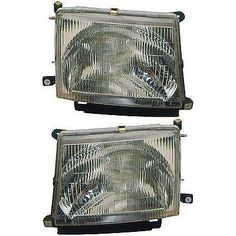 Headlight Set For 97-2000 Toyota Tacoma Driver And Passenger Side W/ Bulb #car #truck #parts #lighting #lamps #headlights #to2503120to2502120