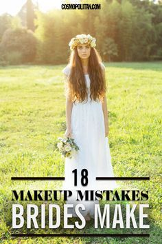 18 BRIDAL MAKEUP MISTAKES: Your dress for the big day is important (duh!), but your makeup for your wedding day is just as important to your look — wedding photos are forever! Look perfect for pictures and IRL with these 18 tips that will ensure you look ~flawless~ on one of the most important day's of your life! Click through for all the details.