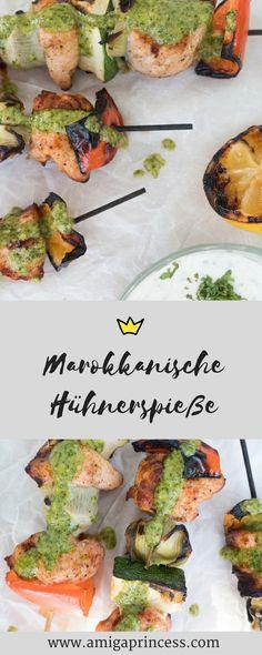 Marokkanische Hühnerspieße mit Minzdip #sogrillthofer, bbq, hühnerfleisch grillen, rezept, recipe, mintsalsa, chicken, amigaprincess, foodblogger, food, einfach und schnell