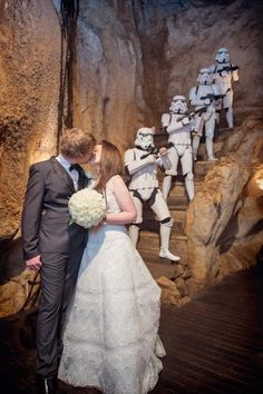 Star wars wedding - talk about competing with the bride!!! @ JF