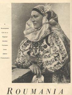 Folk Costume, Costumes, Romania People, Folk Fashion, Vintage Photos, Native American, Cross Stitch, Culture, Embroidery