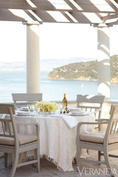 A gorgeous outdoor dining with views to die for!