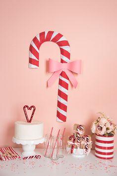 Christmas Candy Cane Backdrop - natalme