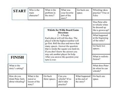 This game board goes along with the story Whistle for Willie. I used the book to develop the questions. Grade 1, First Grade, Whistle For Willie, Oo Sound, Cause And Effect, Guided Reading, School Days, Classroom Ideas, Board Games