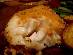 Live.Love.Eat: Baked Orange Roughy  Sub gf breadcrumbs or fine chopped nuts for the regular breadcrumbs in the recipe. Parmesan can be subbed or left out.