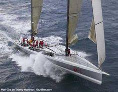 Mari-Cha IV - 140' maxi yacht - holds record for fastest monohull Atlantic crossing