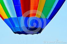 Hot air balloon colors ready for launch