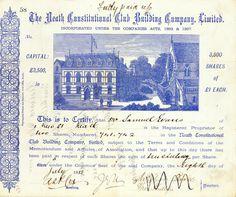 Neath Constitutional Club Building, Neath, Aktie v. 1885 + SEHR DEKORATIV + RAR!
