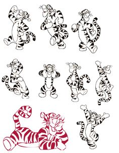 Getting this on the side of my right calf for my nephie with his birthday above tigger