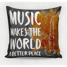 Almofada decorativa em tecido estampado - MUSIC – 45cm X 45cm  Decorsoft -Almofadas com estampas lindas. Aqui você encontra! Acompanhe a DecorSoft nas redes sociais e não perca nossas promoções de lançamento! https://www.facebook.com/decorsoft/ https://www.instagram.com/decor_soft/ @decor_soft  #decorsoft #decor #almofadas #decoração #adorable