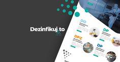 Vytvorenie sviežej a dizajnovo zaujímavej stránky pre dezinfekciu.