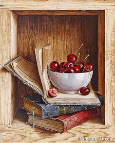 Des cerises et des livres hummmm!trop bon...