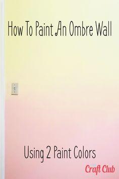 Ombre Painted Walls, Pastel Walls, Ombre Walls, Pastel Room, Room Wall Painting, Kids Room Paint, Room Wall Colors, Wall Paint Colors, Girl Bedroom Walls